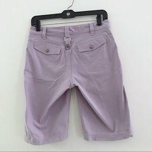 Athleta lavender Bermuda shorts